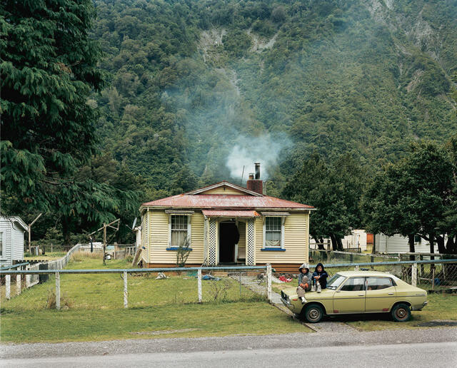 Settlement Road, Otira, West Coast, 6.30pm, 27th February 2004