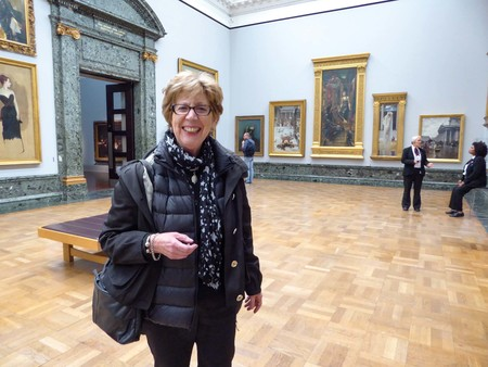 In the National Gallery, London, 2015. Photo: Jenny May