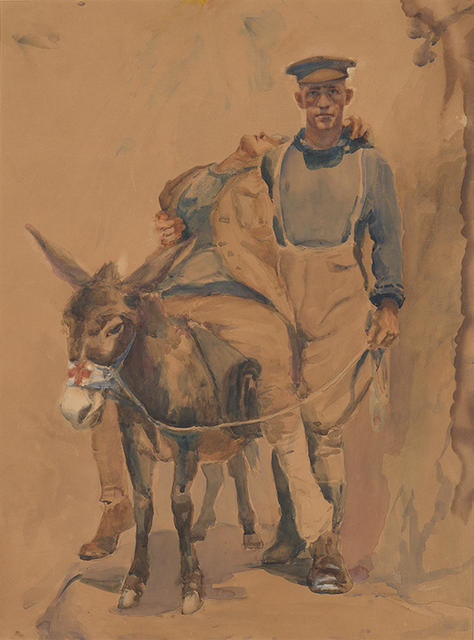 "Simpson and his donkey ""Murphy"""