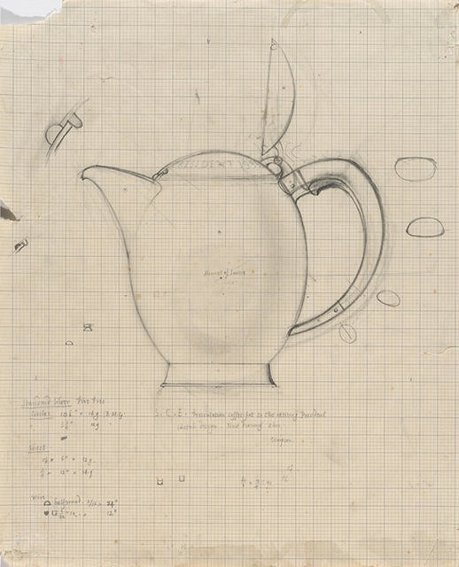 Working drawing for Coffee Pot