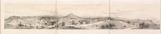 The town of New Plymouth in the year 1843