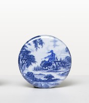 Blue + White China Plate: Badge