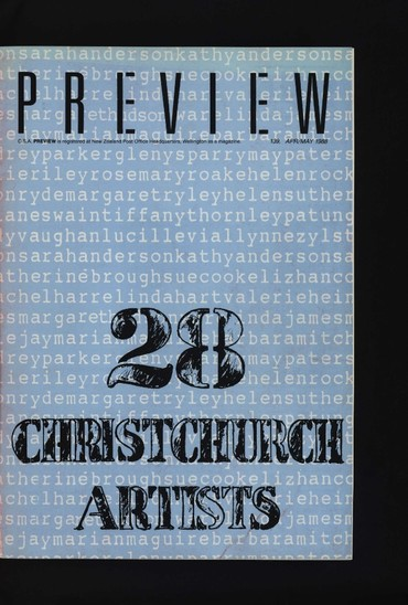 Canterbury Society of Arts Preview, number 139, April/May 1988