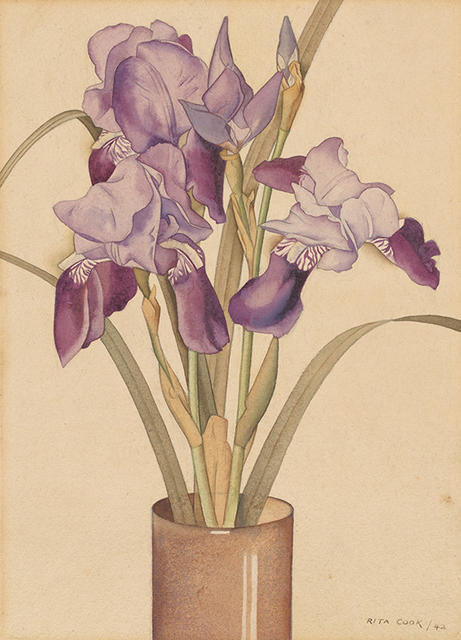 Irises by Rita Angus