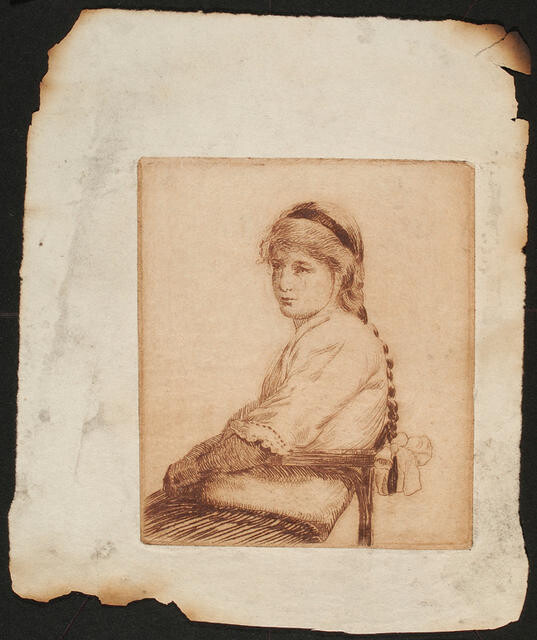 Untitled [girl seated]
