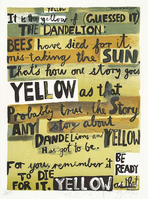 Yellow (from a poem by Sam Hunt)