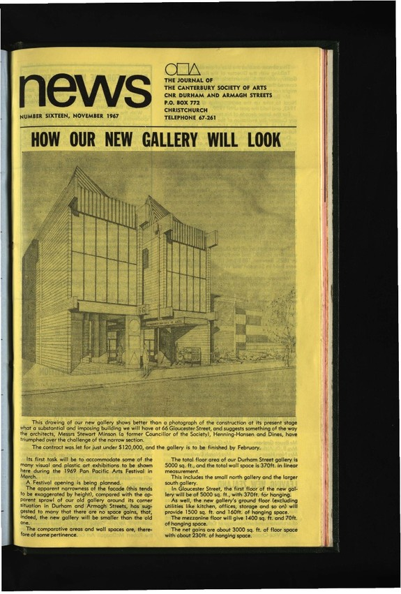 Canterbury Society of Arts News, number 16, November 1967