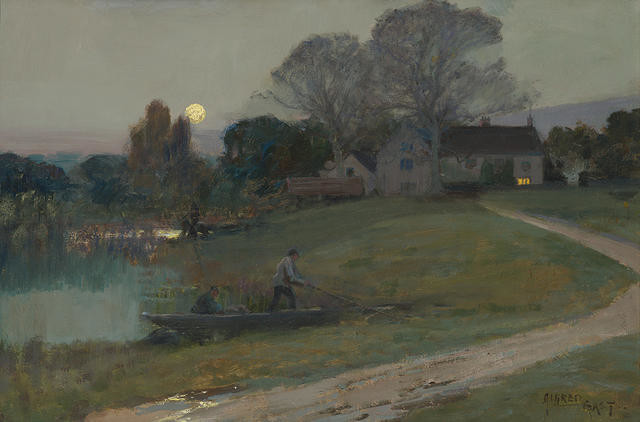 The Moon and the Manor House by Sir Alfred East