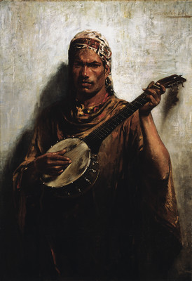 Petrus van der Velden The Satara Player 1894. Oil on canvas. Collection of Christchurch Art Gallery Te Puna o Waiwhetū, Miss Marjorie Bassett bequest 1964