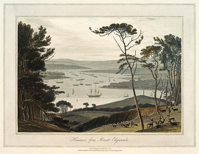 Hamoaze from Mount Edgecumbe