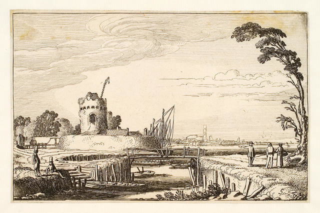 May - Canal Landscape With Ruined Tower