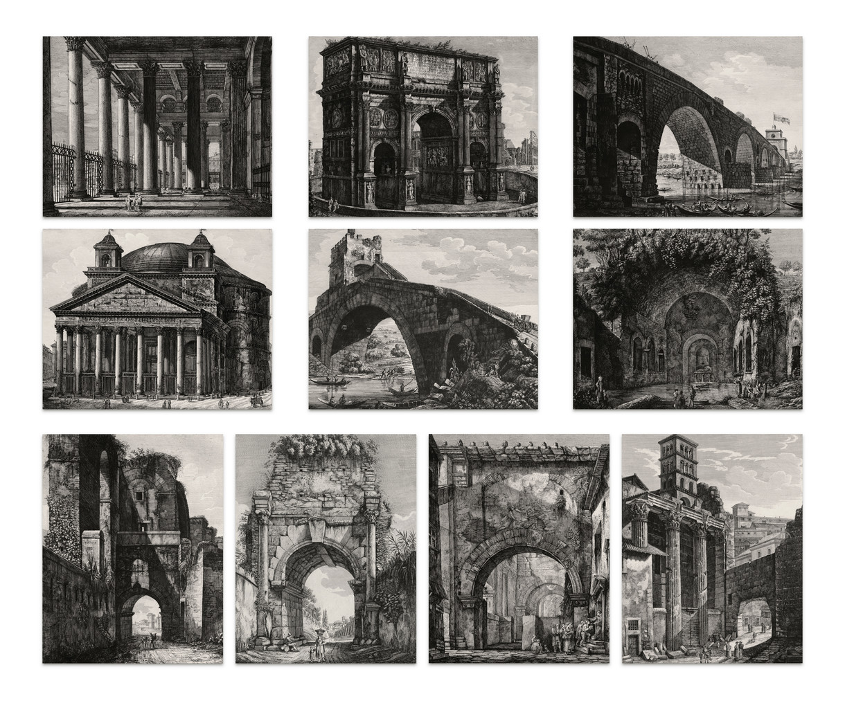 Luigi Rossini: Set of 10 Postcards