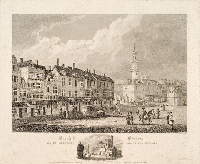 Cornhill, London, As It Appeared About The Year 1630