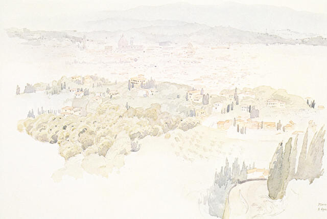 Florence from Fiesole, 5 April 1974
