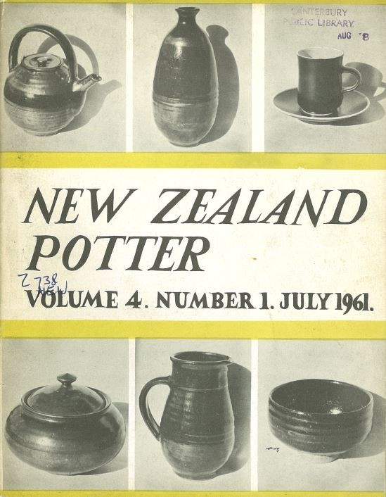 New Zealand Potter volume 4 number 1, July 1961