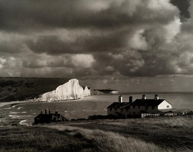 Seven Sisters, Sussex from Cuckmere Haven with Coastguard Cottages