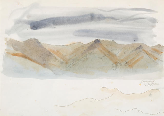 Study For 'Te Tihi O Kahukura And Sky' Series Jan 1976