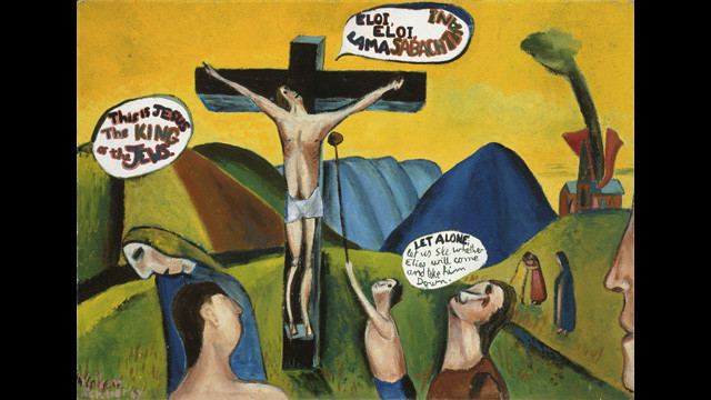 Colin McCahon - Crucifixion according to St Mark