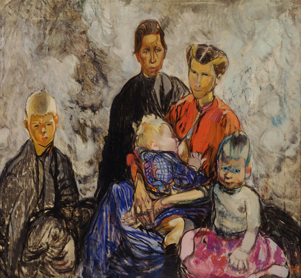 Frances Hodgkins Belgian Refugees 1916. Oil on canvas. Collection of Christchurch Art Gallery Te Puna o Waiwhetū, purchased with the assistance of the National Art Collections Fund, London 1980