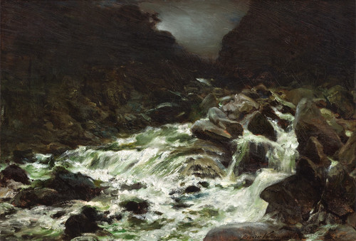 Petrus van der Velden Mountain Stream, Otira Gorge 1893. Oil on canvas. Private collection