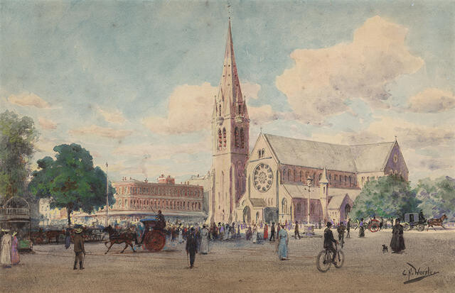 Cathedral Square by Charles Nathaniel Worsley