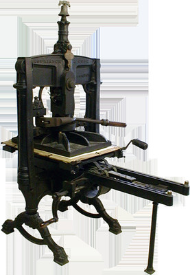 Hopkinson and Cope Albion Press used at Kelmscott Press.