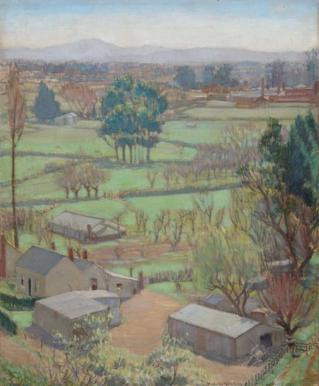 Viola Macmillan Brown Notariello Across the Plains 1931. Collection of Christchurch Art Gallery Te Puna o Waiwhetū, gift of Antonietta Baldacchino and Felicity Brichieri-Colombi 2007