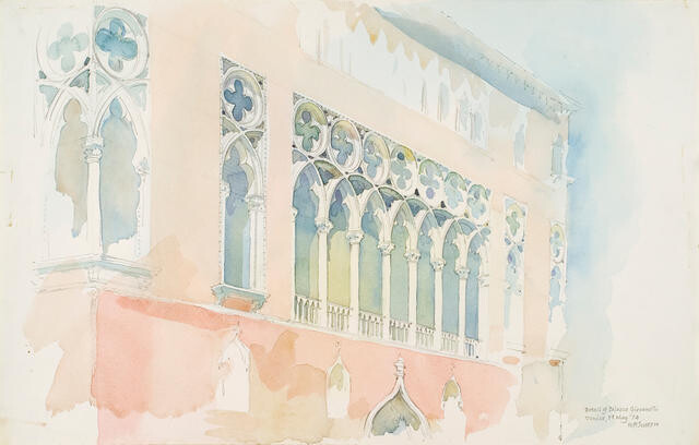 Detail of Palazzo Giovanelli, Venice, 19 May 1974