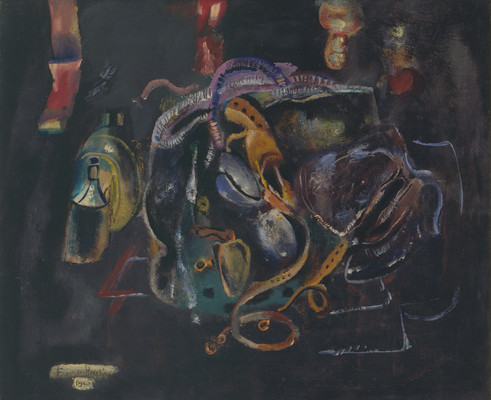 Frances Hodgkins Zipp 1945. Oil on canvas. Collection of Christchurch Art Gallery Te Puna o Waiwhetū, purchased 1979