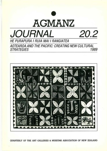 AGMANZ Journal Volume 20 Number 2 1989