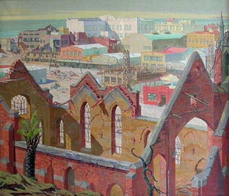 Roland Hipkins, Renaissance, 1932. oil on canvas. Collection of Hawke's Bay Museum, presented by the de Beer family, 1951.
