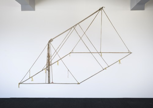 Pip Culbert Pup Tent 1999. Canvas, rope, webbing, metal rings. Courtesy of the artist