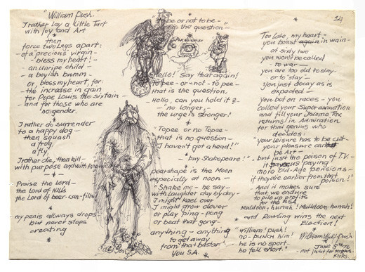 Poem with drawings by Rudolf Gopas. Box 7, Rudolf Gopas Archive, Robert and Barbara Stewart Library and Archive, Christchurch Art Gallery Te Puna o Waiwhetū