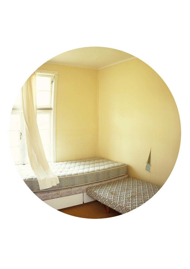 Ann Shelton Pheonix block, room # unknown [yellow walls] 2008. C-type photograph