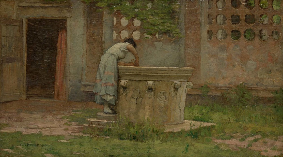 William A. Breakspeare The Fountain 1883. Oil on wood panel. Collection of Christchurch Art Gallery Te Puna o Waiwhetū, presented by the family of James Jamieson 1932