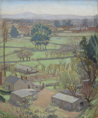 Viola Macmillan Brown Notariello (1897–1981) Across the Plains c.1931 Collection of Christchurch Art Gallery Te Puna o Waiwhetū. Gift of Antonietta Baldacchino and Felicity Brichieri-Colombi, 2007.