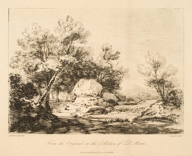 Landscape With Rocks And Trees (From The Original In The Collection Of Dr Monro)