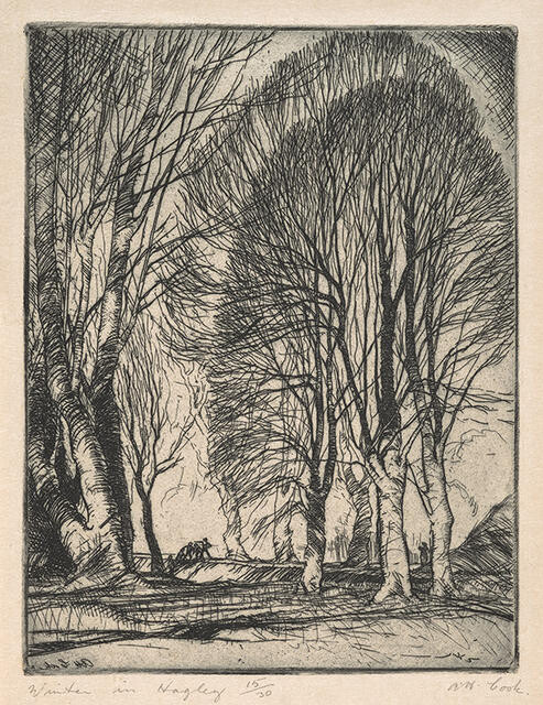 Winter, Hagley Park, 1932