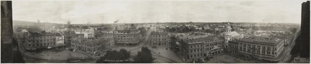 Christchurch NZ 1923. No.1 (View of Christchurch City from the Cathedral Tower)