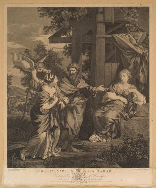 Abraham, Sarah and Hagar (In The Gallery At Houghton)