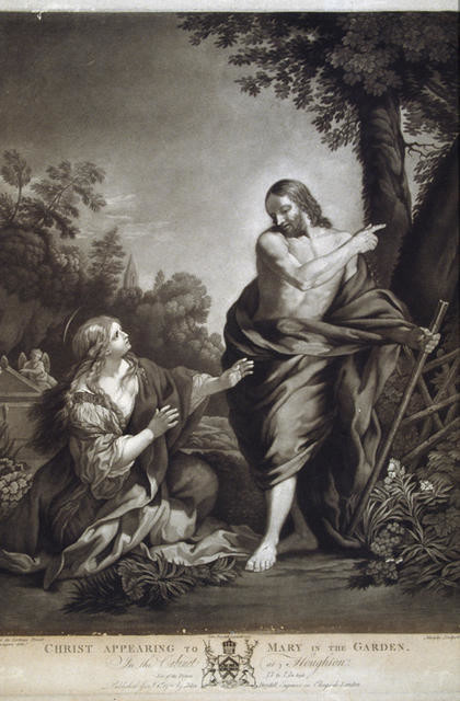 Christ Appearing To Mary In The Garden (In The Cabinet At Houghton)