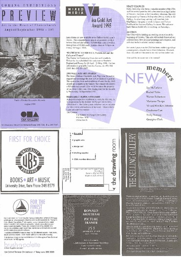 Canterbury Society of Arts Preview, number 197, August/September 1995