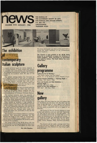 Canterbury Society of Arts News, number 5, January 1966