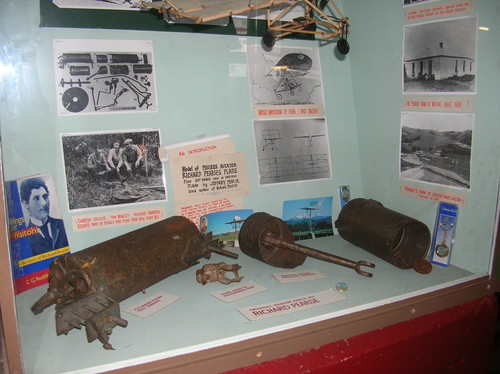 Remains of Richard Pearse's combustion engine at the Pleasant Point Railway and Historical Society.