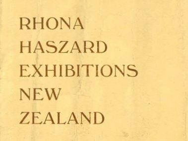 Rhona Haszard exhibitions New Zealand 1933