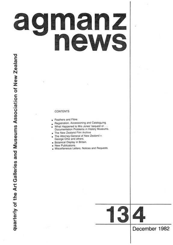AGMANZ News Volume 13 Number 4 December 1982