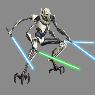 General Grievous, cyborg leader of the droid armies of the Separatists in Star Wars Episode III: Revenge of the Sith
