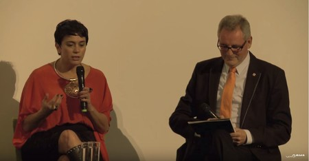 Watch 'A conversation with Lisa Reihana [extract]' on YouTube.
