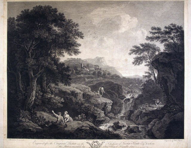 Landscape 'Engraved After The Original Picture In The Possession Of George Keate Esq'