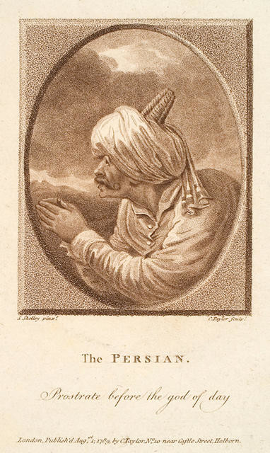 The Persian. Prostrate before the god of day